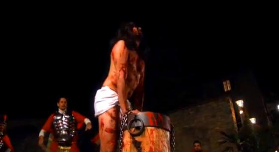 Una delle scene da La Passione di Cristo di Zavattarello (2012)